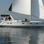 Hunter Legend 430 for sale with network Yacht Brokers Corfu
