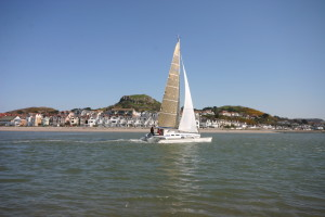 Dragonfly 920 Extreme Trimaran sailing in Conwy  (14)