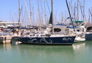 Yacht in Barcelona